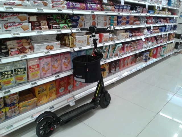 electric scooter with basket 1